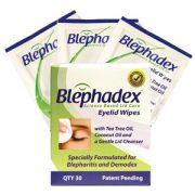 Blephadex eyelid wipes box
