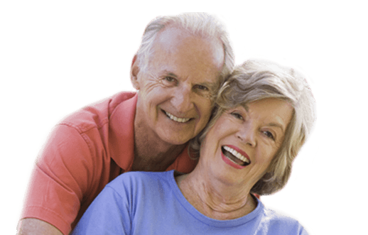 happy mature couple and cataract patients