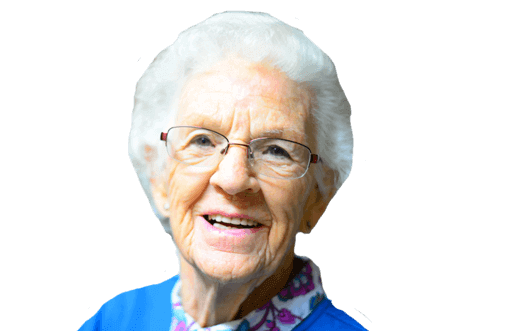 happy older woman after LUCENTIS treatment