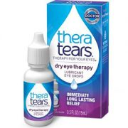 TheraTears artificial tears box and eye drop bottle